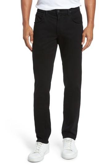 Hudson Blake Slim Fit Jeans In Blackened