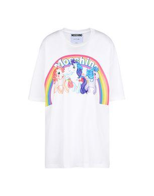 5df9facf5f1a Moschino My Little Pony Capsule Print Logo Cotton Tee In White ...