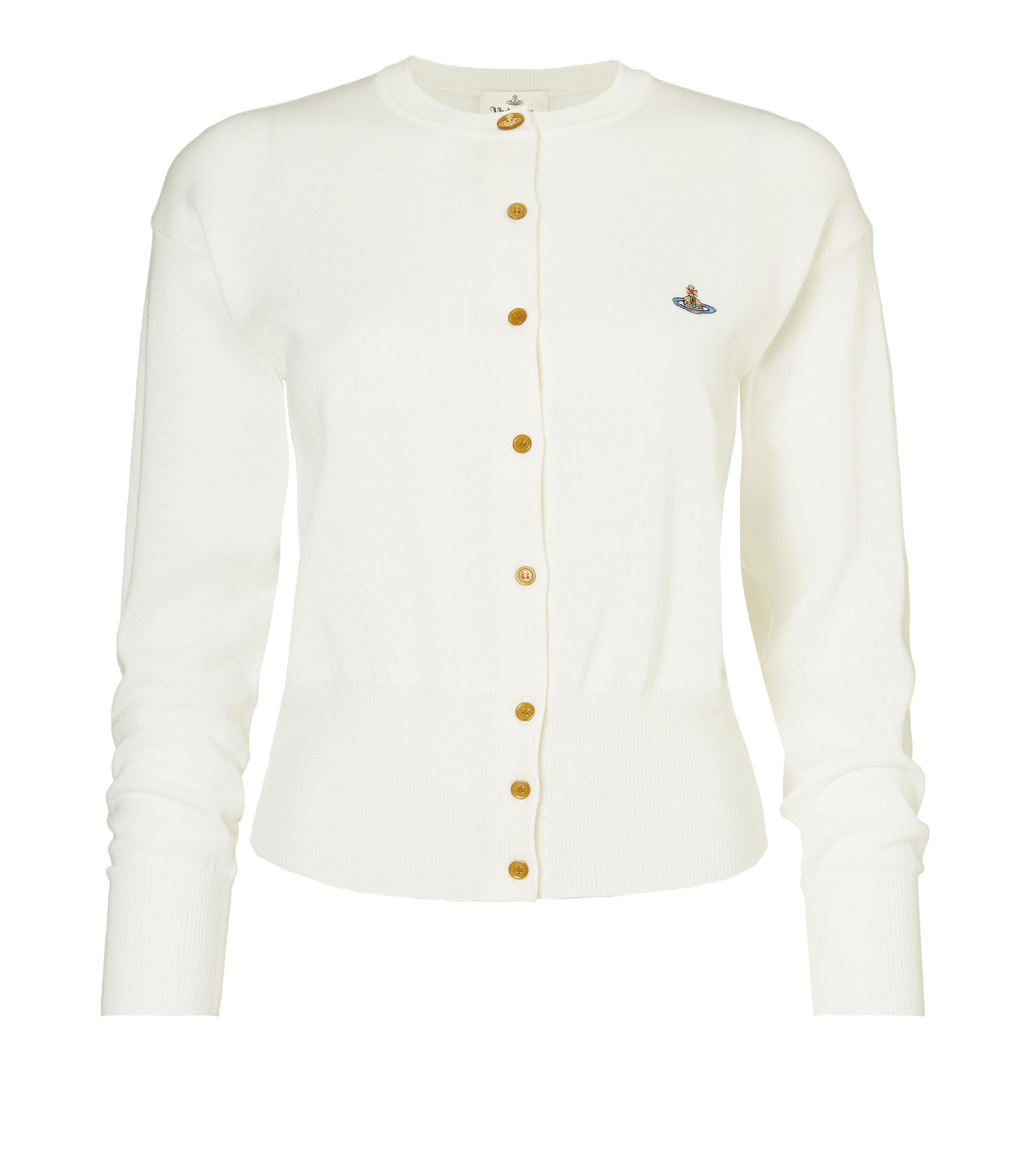 Vivienne Westwood Classic Wool Cardigan Off White
