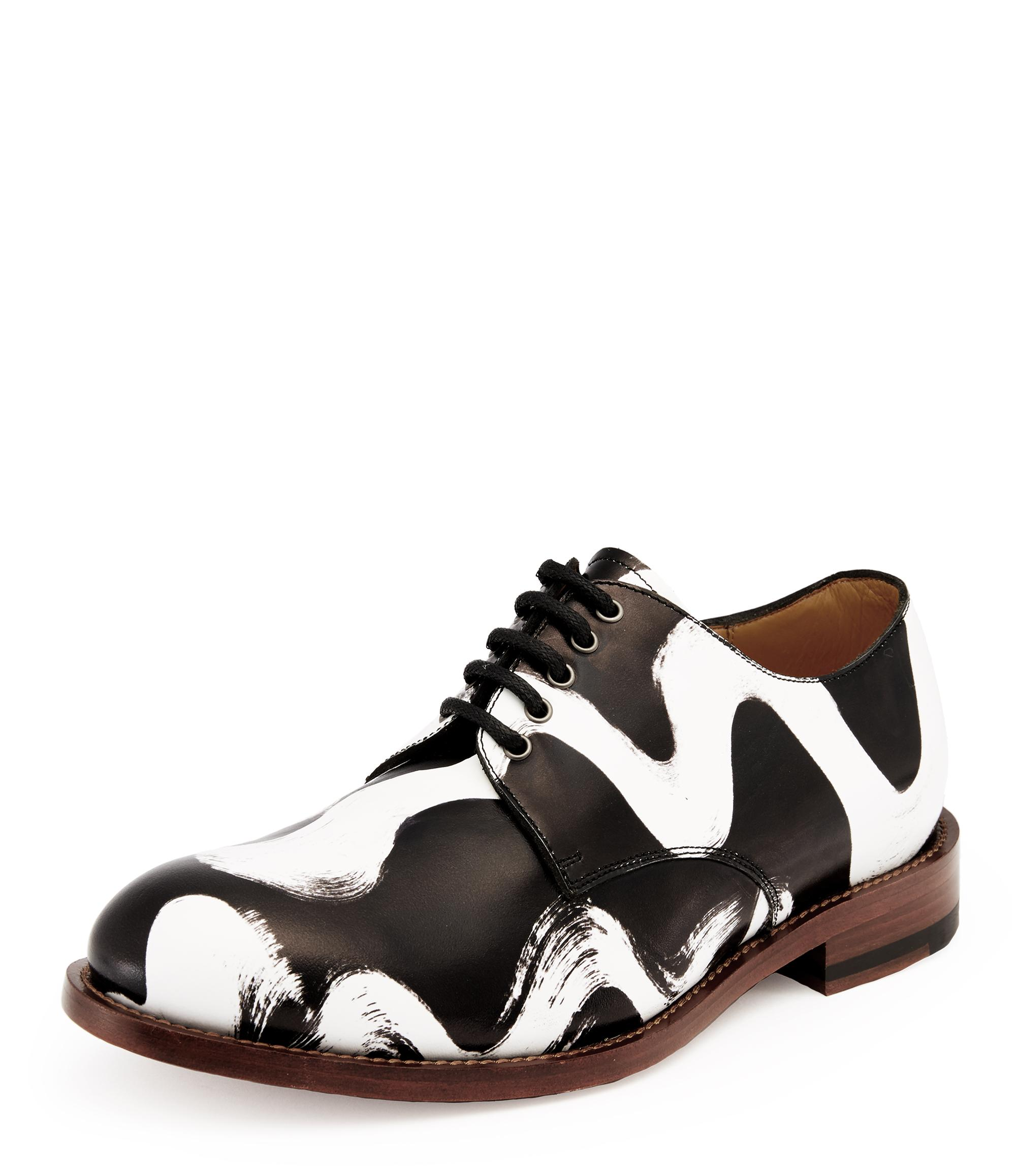 1bda0730eb2 Utility Derby Lace Up Shoes Vivienne's Squiggle Black/White