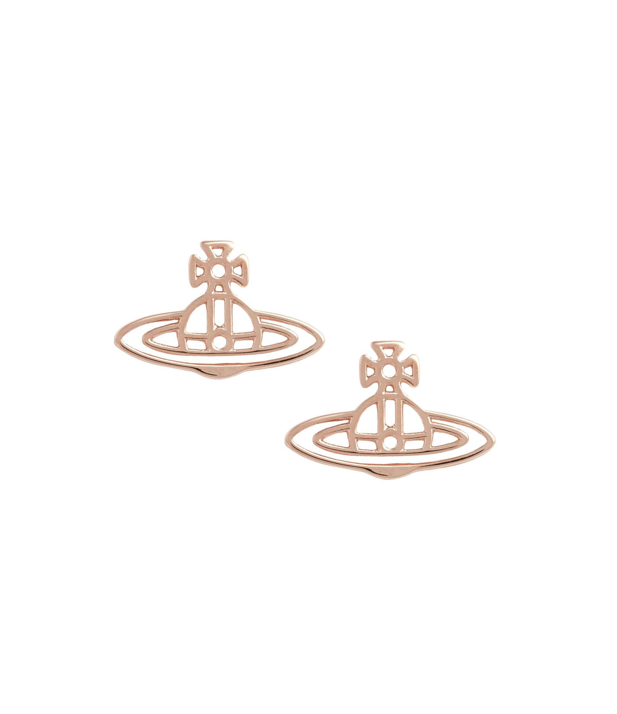 58b287b36 Vivienne Westwood Thin Lines Flat Orb Stud Earrings Pink Gold | ModeSens