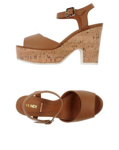 Fendi Cork Platform Sandal (Women) In Camel