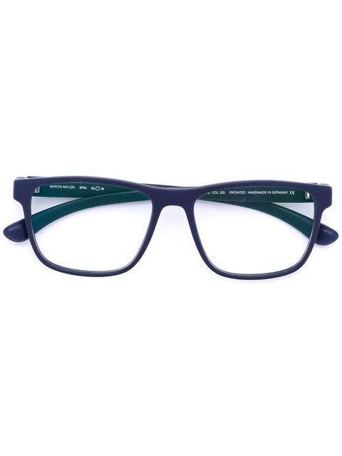 Mykita Rectangle Frame Glasses - Blue