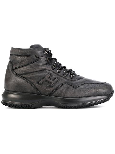 Hogan Interactive New Hi-Top Sneakers In Dark Grey