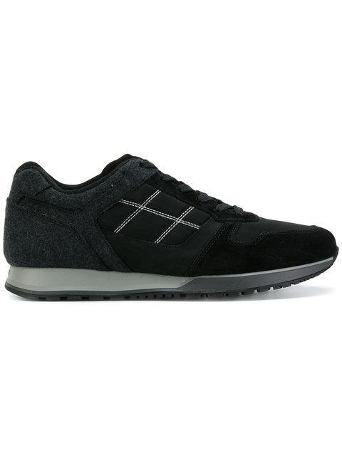 Hogan Black H321 Suede Sneakers