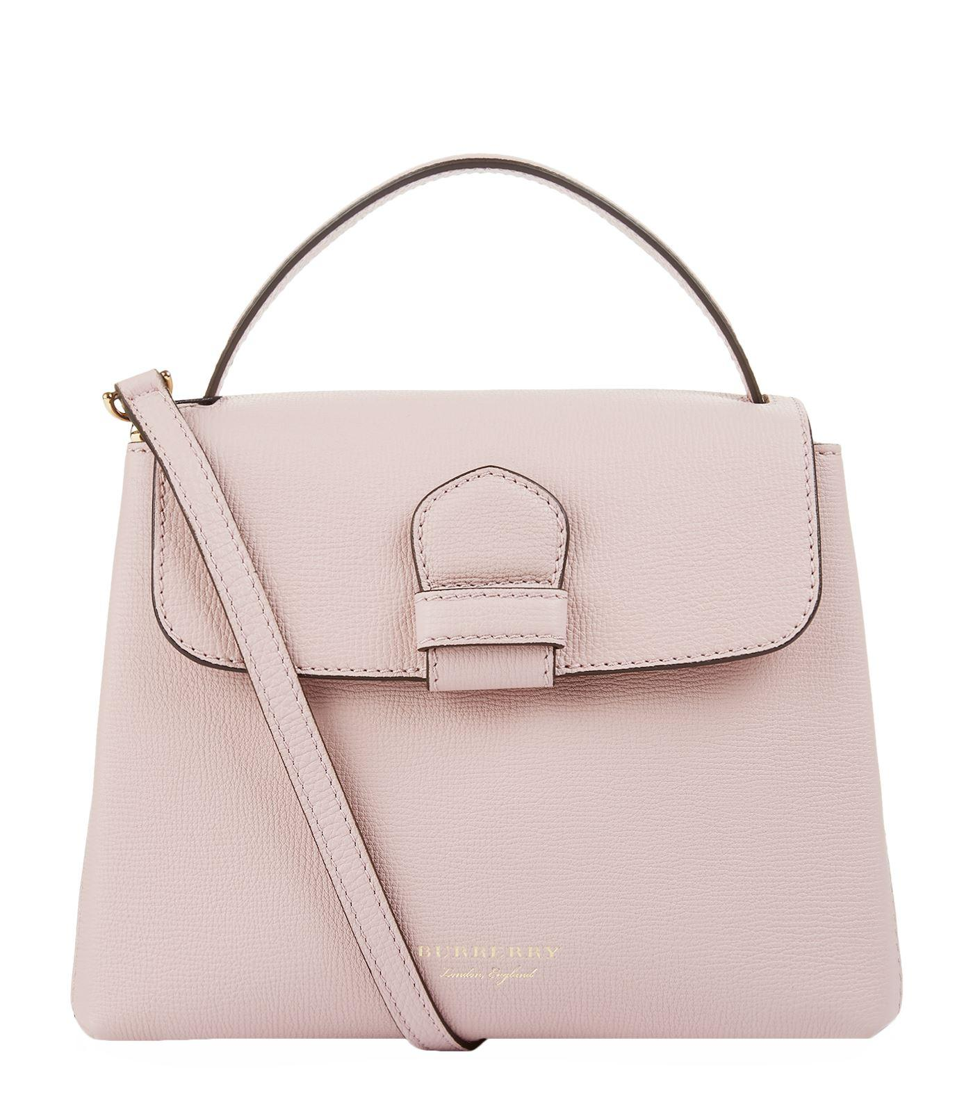 d51b998c0 Burberry Small Grainy Leather And House Check Tote Bag In Pale Orchid