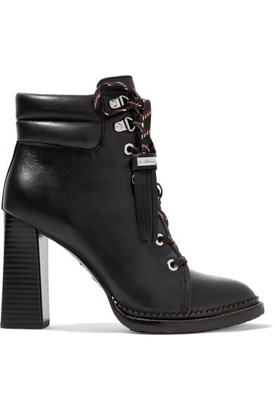 1a6d0bc6f Sam Edelman Sondra Lace-Up Leather Ankle Boots In Black Leather ...