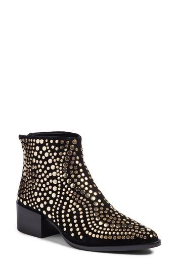 ab53291ea81 Edenny Studded Pointy Toe Bootie in Nocolor