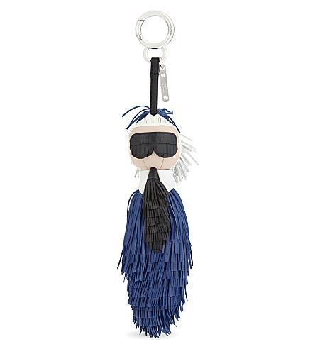 63cd962934f2 Fendi Mini Karlito Nappa Leather Bag Charm In Blue