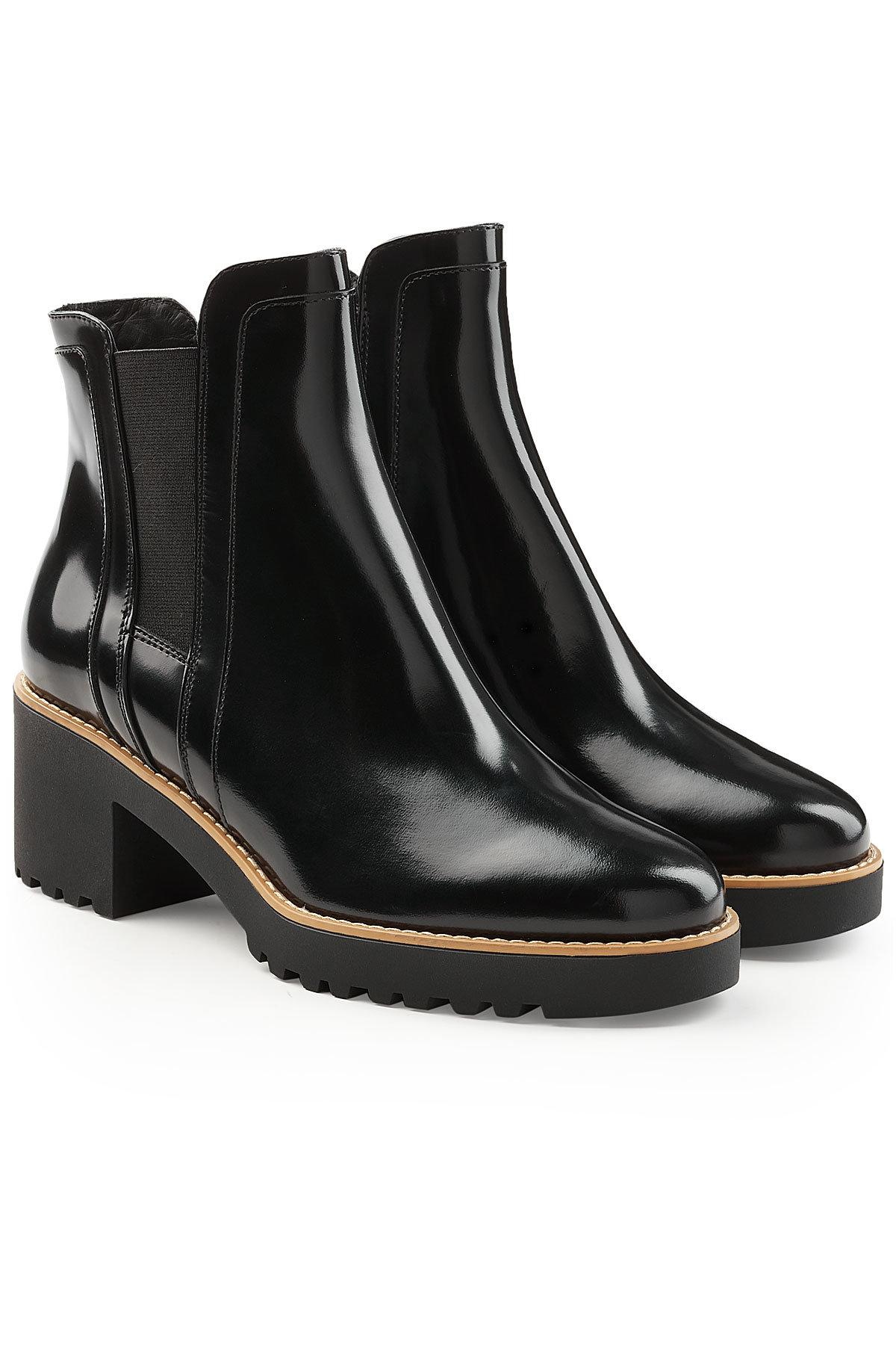 dc832ee0d61 Hogan Patent Leather Ankle Boots In Black | ModeSens