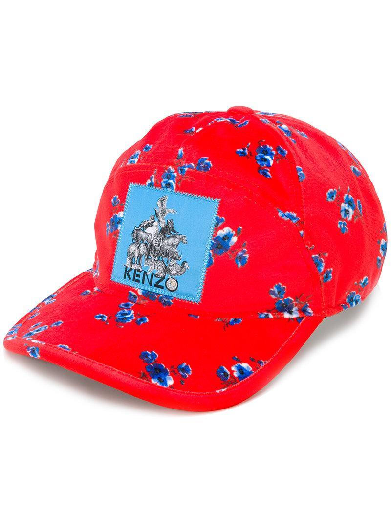 9177a699 Kenzo Memento Printed Velvet Baseball Hat In Red | ModeSens