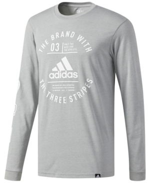 f83d3a15120f Adidas Originals Adidas Men's Graphic Long-Sleeve T-Shirt In Grey ...