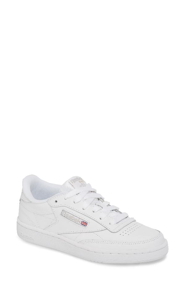 166d1f8995094 Reebok Women. REEBOK. Women s Classic Club 85 Low-Top Sneakers in White  Light  Grey