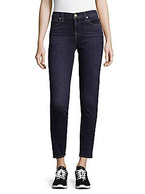 7 For All Mankind Gwenevere Ankle Length Skinny Jeans In Twilight