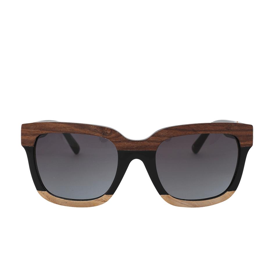 3.1 Phillip Lim Square Wood Sunglasses In Wood-Blk
