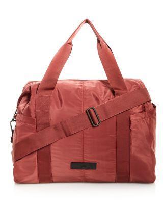 e0844dd533 Adidas By Stella Mccartney Shipshape Gym Bag In Clay Red Gunmetal ...
