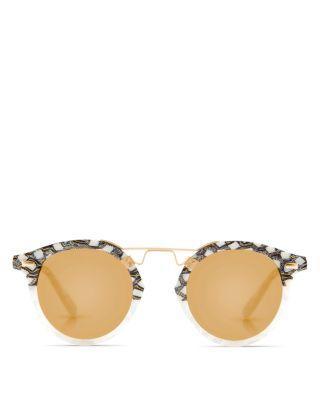 3ecc14aa49 Krewe Women s St. Louis 24K Gold Mirrored Round Sunglasses