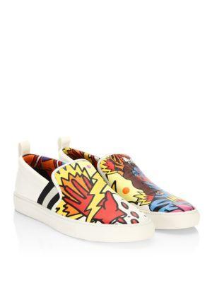 fbf643bc481 Bally X Swizz Beatz Leather Sneakers In Day