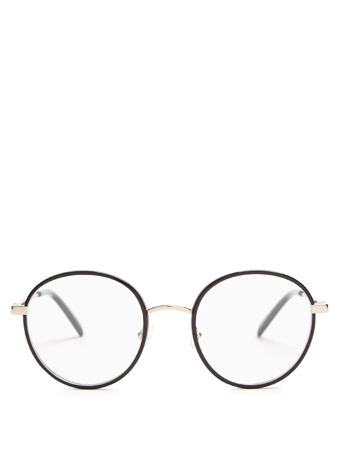 7ee7bb7ae2d6c Stella Mccartney Round-Frame Metal Glasses In Black
