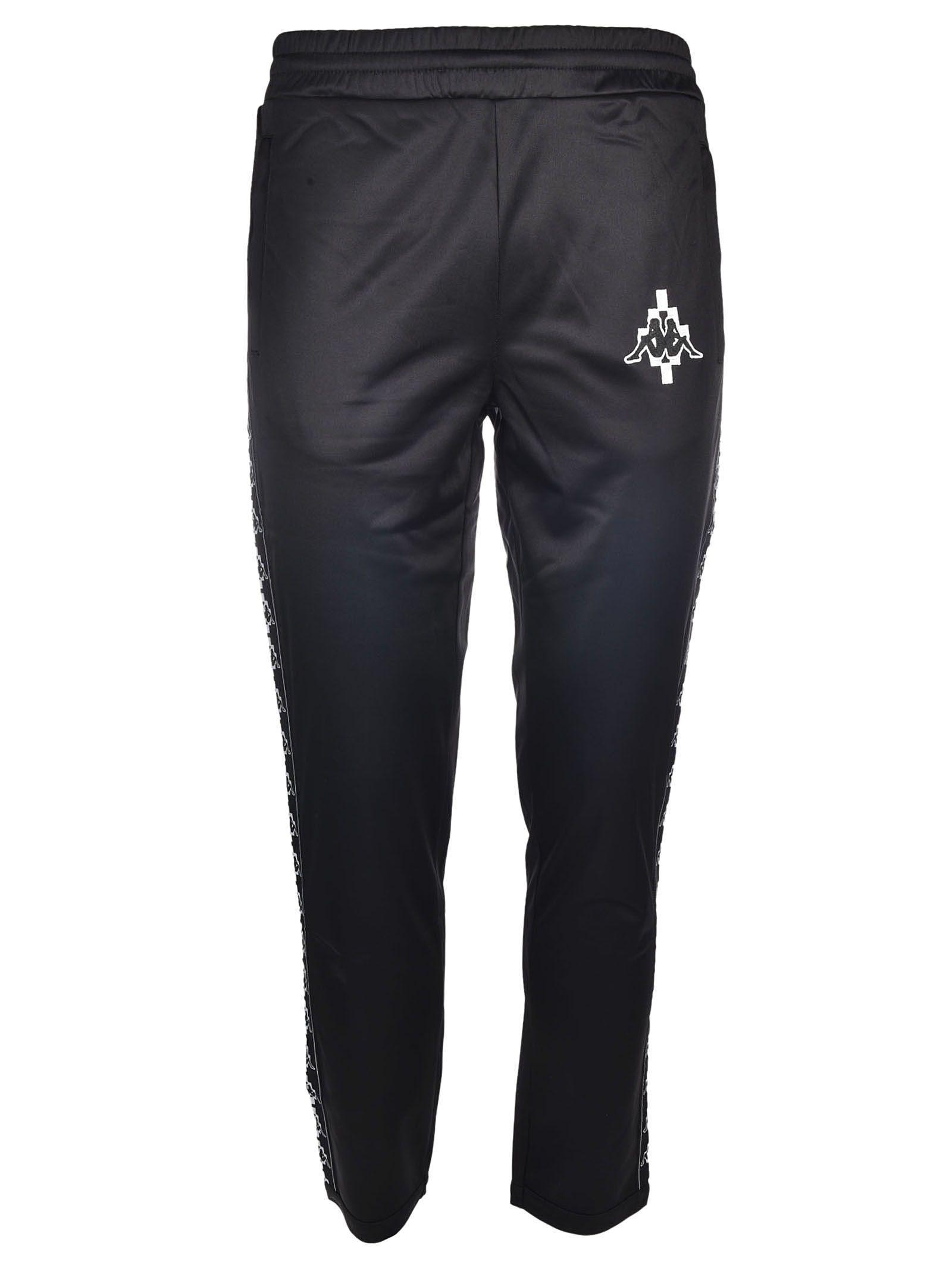 Marcelo Burlon County Of Milan X Kappa Logo Track Pants In Nero