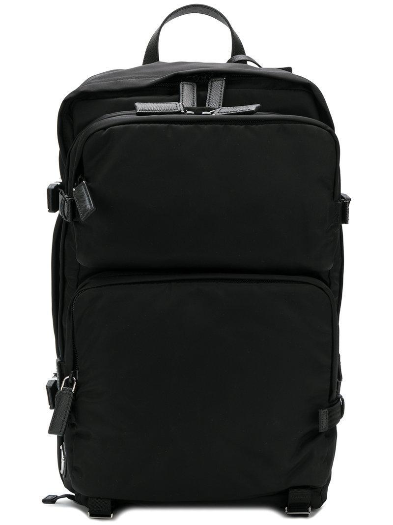 e3994f15de30 Prada Black Nylon Mountain Backpack   ModeSens