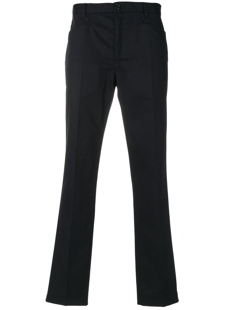 Ps By Paul Smith Straight-Leg Trousers In Blue