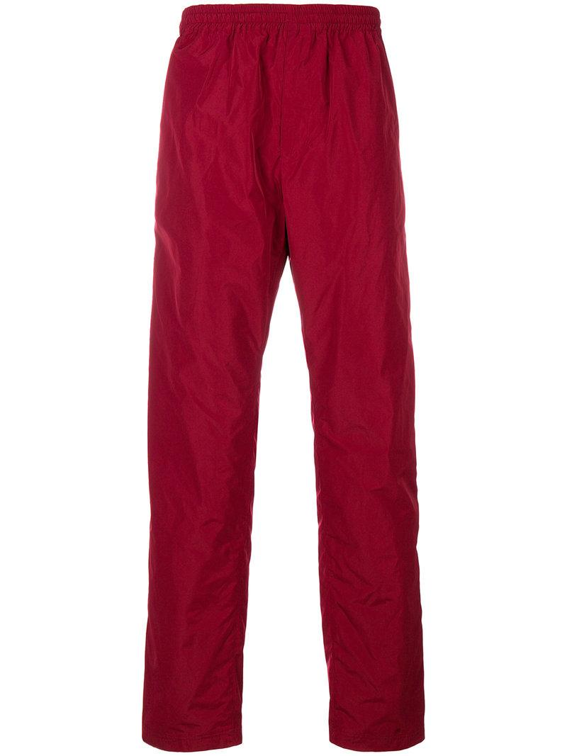 White Mountaineering Track Pant Trousers  In Red
