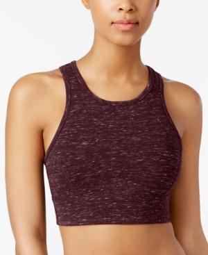 fb535154b90 Calvin Klein Performance Lattice-Back Medium-Support Sports Bra In Merlot  Creek Heather