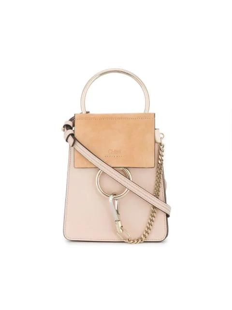 ChloÉ Pink Faye Small Leather Bracelet Bag