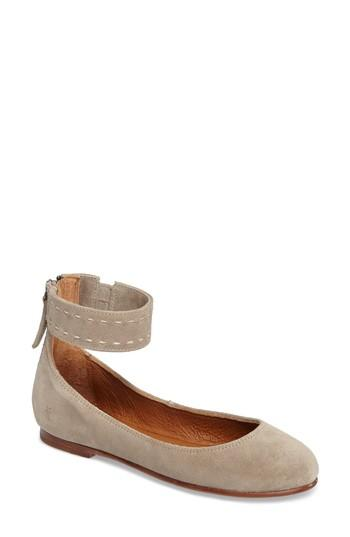 fbbd8bb801c Frye Carson Ankle Suede Ballet Flat In Nocolor