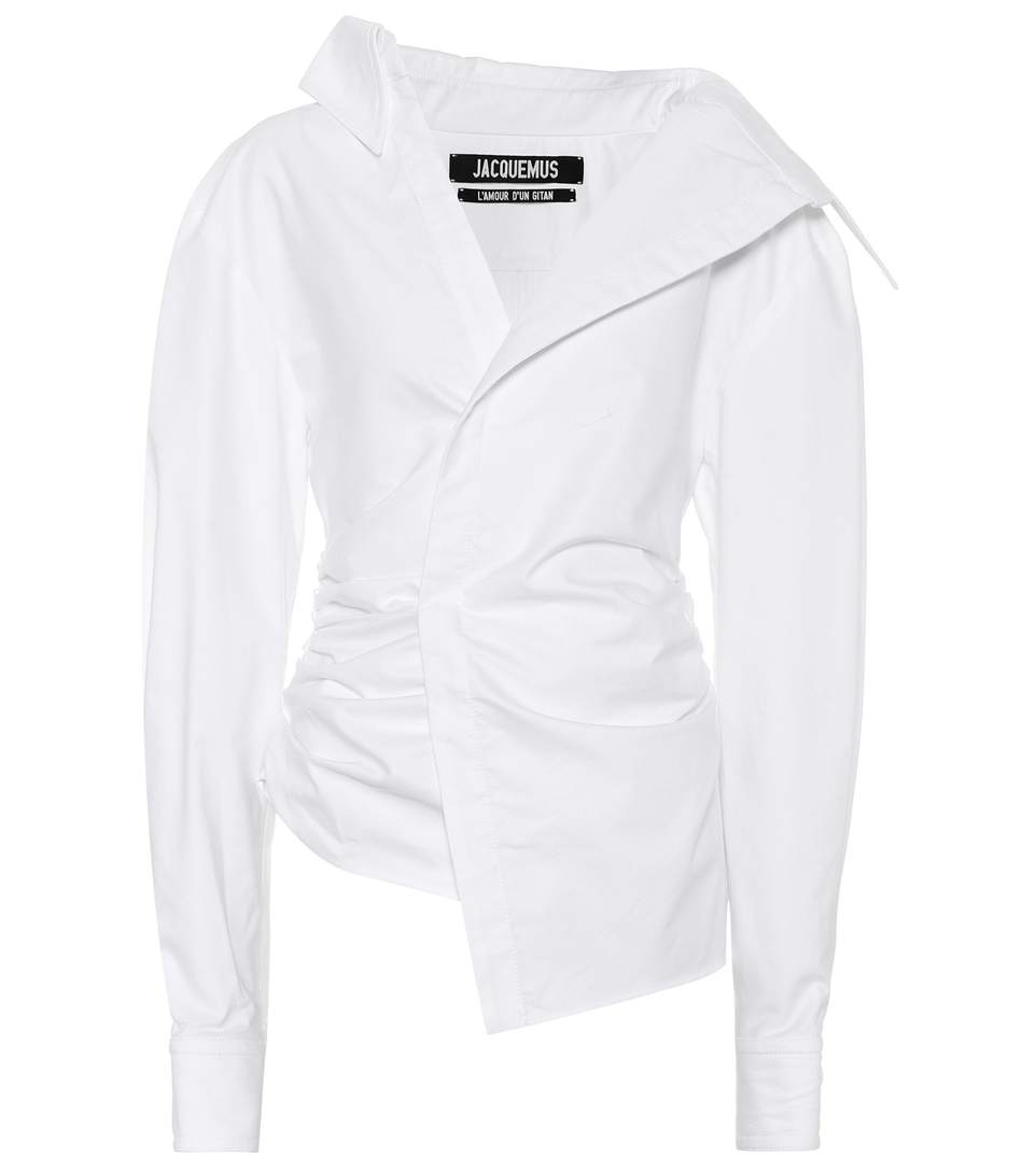 Jacquemus La Chemise Elie Cotton Shirt In 173 23100 White