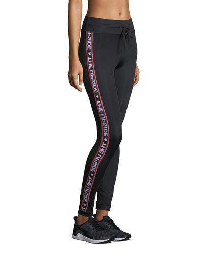 3b59325a4300 The Upside Star Fast Drawstring Yoga Pants In Black