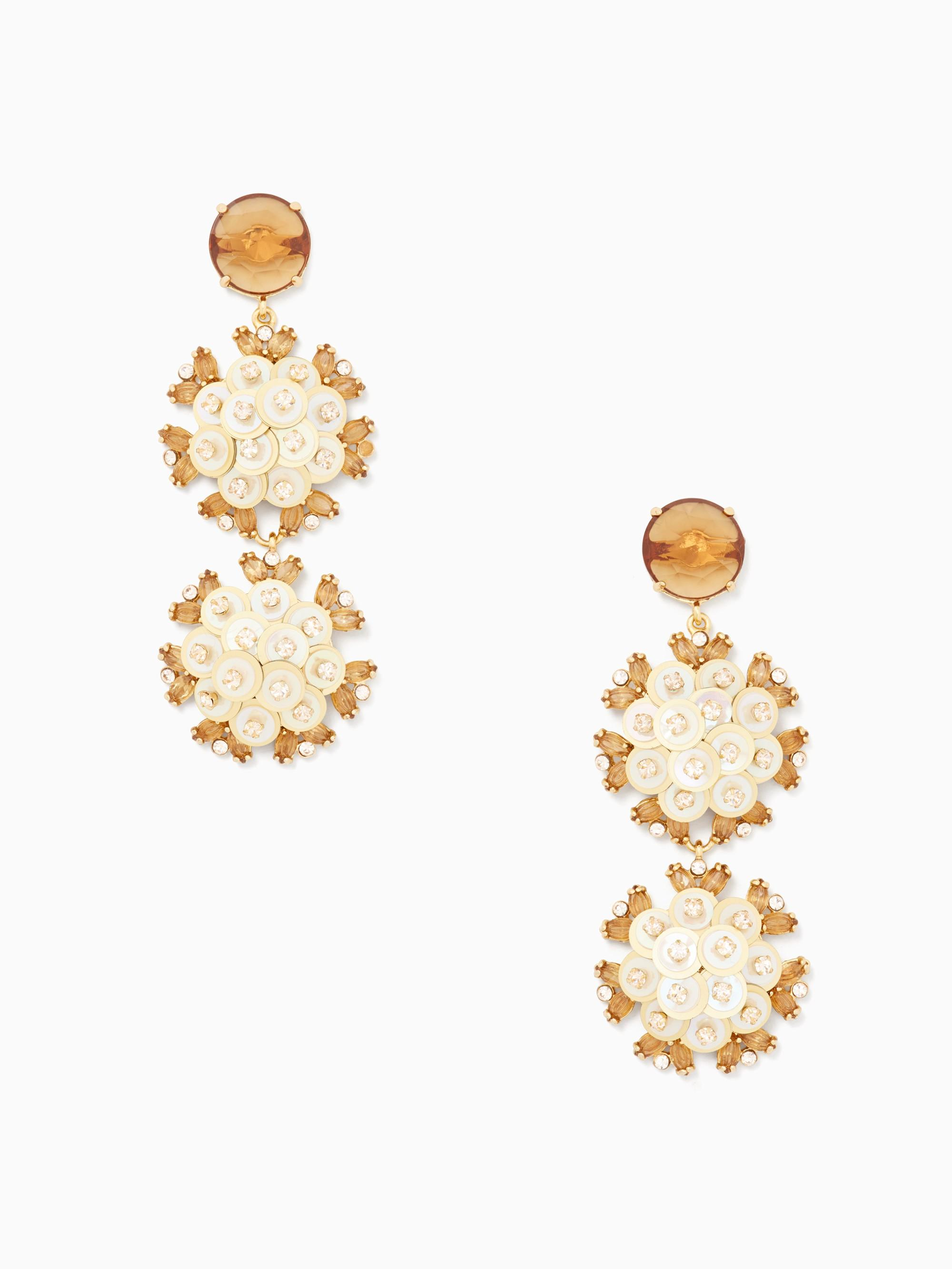 Kate Spade Be Bold Triple Drop Earrings In Gold