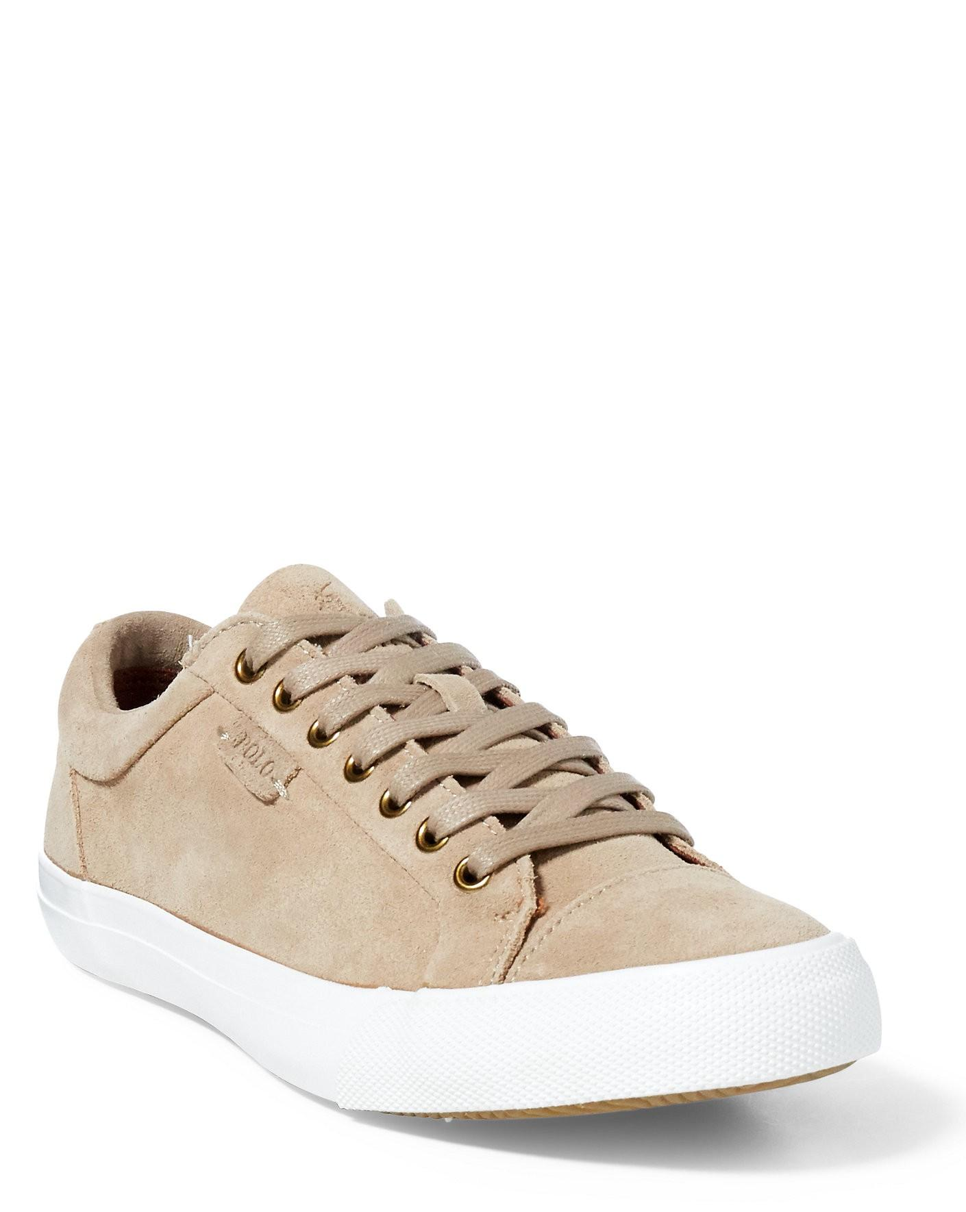 Moral education Decision Pelmel  Ralph Lauren Polo Geffrey Suede Low-top Sneaker In Tan | ModeSens
