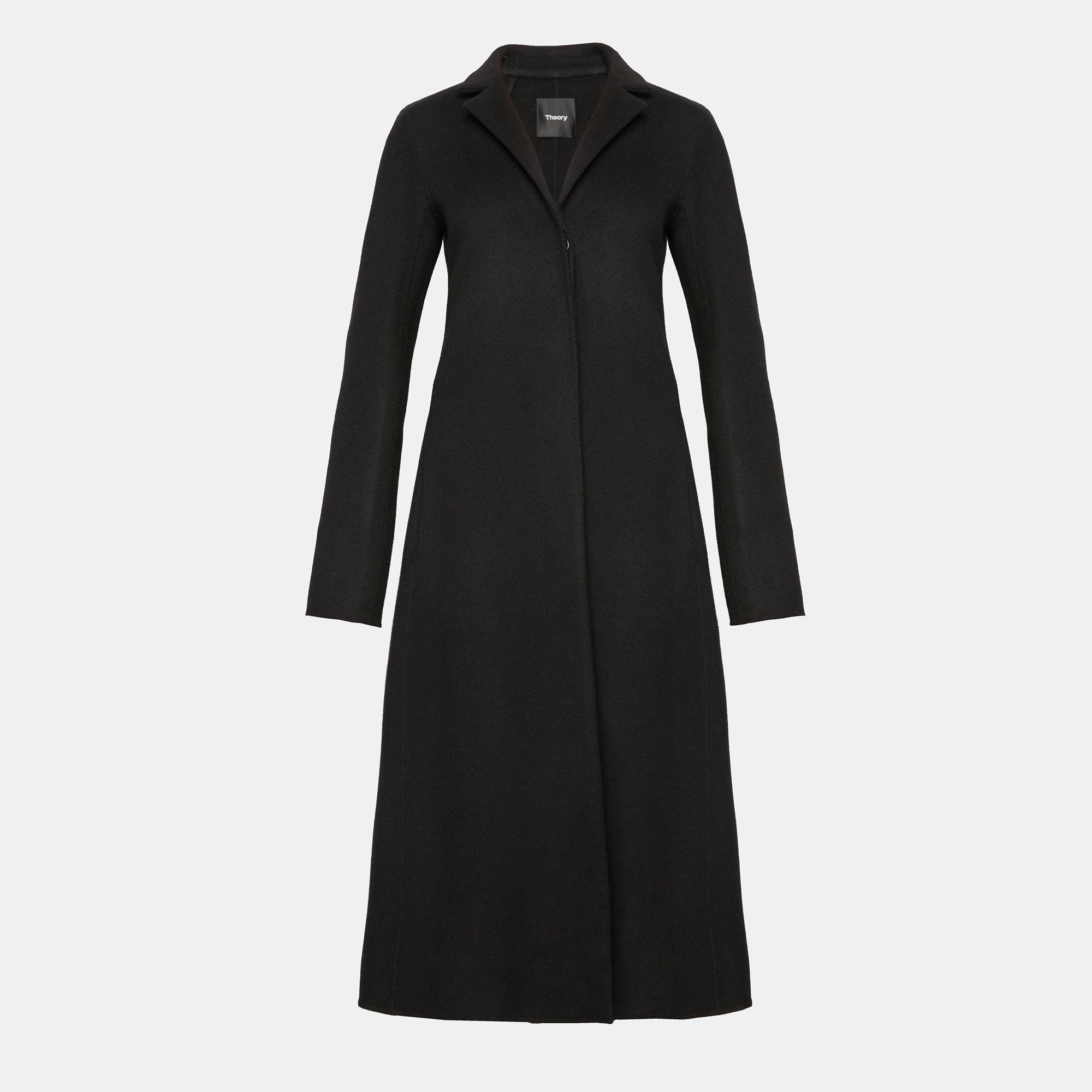 Theory 'A Line' Wool-Cashmere Melton Coat