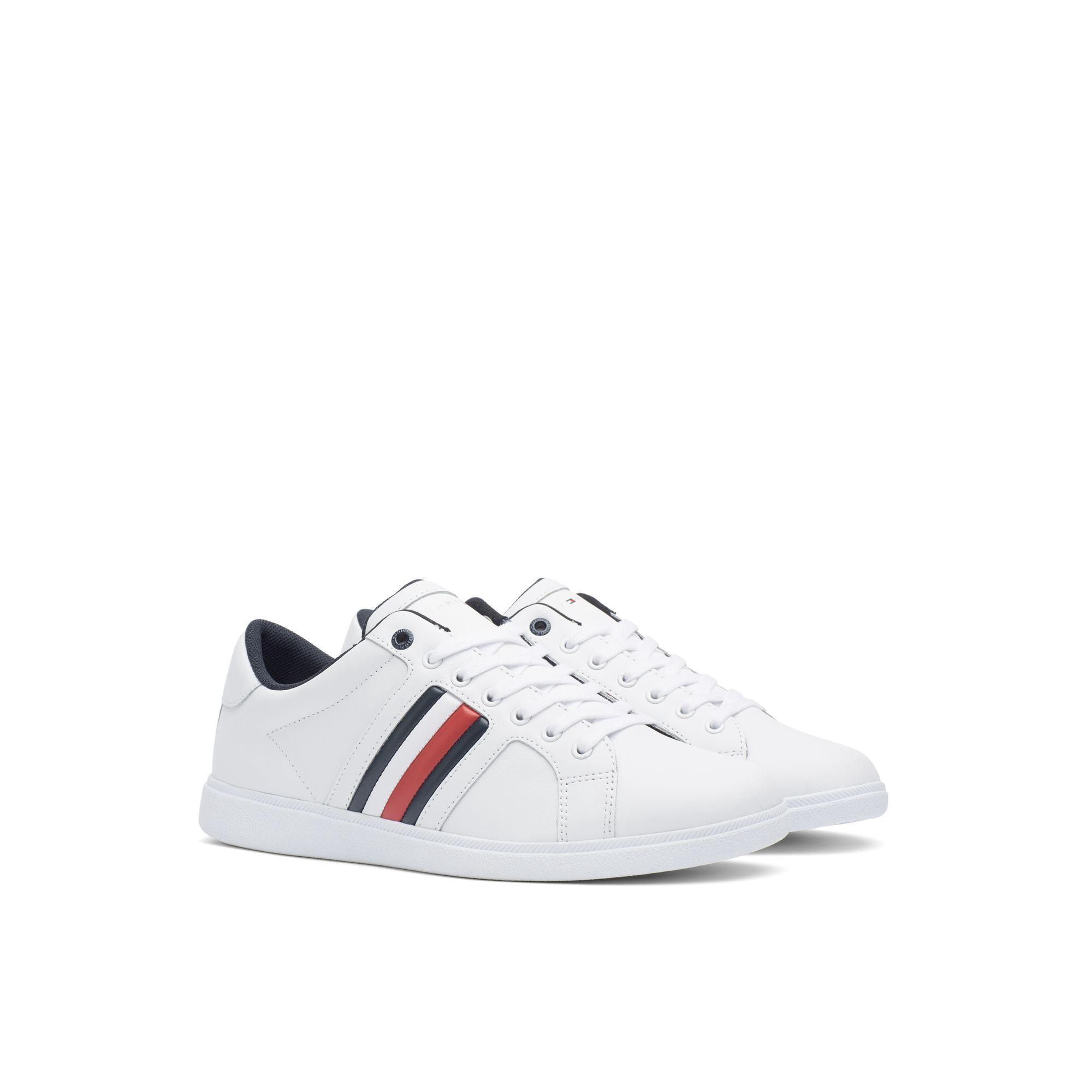 4f2cb718be3bc9 Tommy Hilfiger Leather Sneaker - White