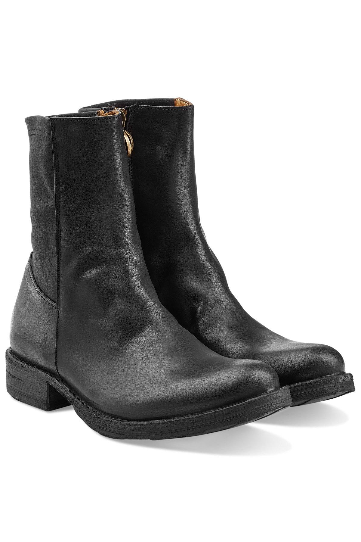 Fiorentini + Baker Ebe Leather Ankle Boots In Black