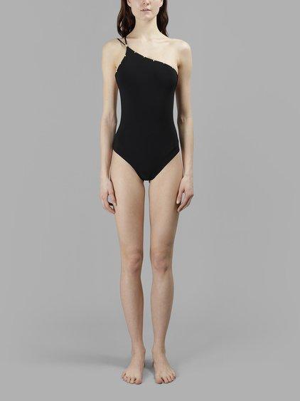 f7950d3b15 Versace Women's One Shoulder Swimsuit in Black