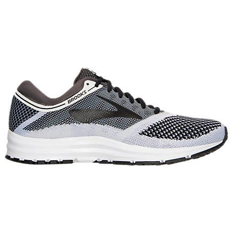 66b7ff6d703 Brooks Women s Revel Running Sneakers From Finish Line In  White Anthracite Black