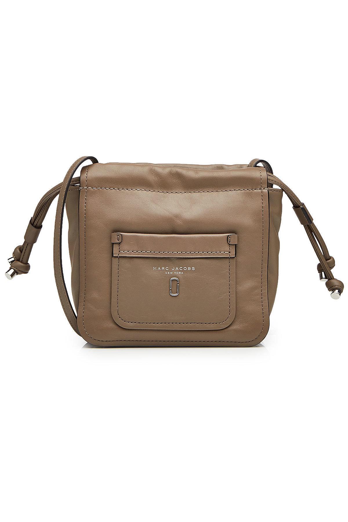 Marc Jacobs Leather Shoulder Bag In Brown