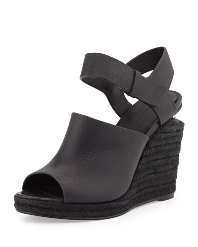 Alexander Wang Tori Leather Espadrille Wedge