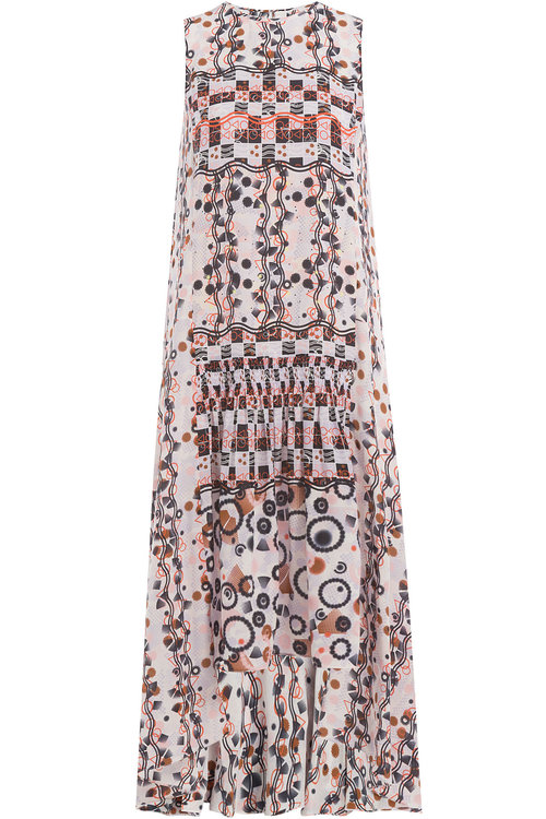 Peter Pilotto Printed Silk Dress In Multicolored