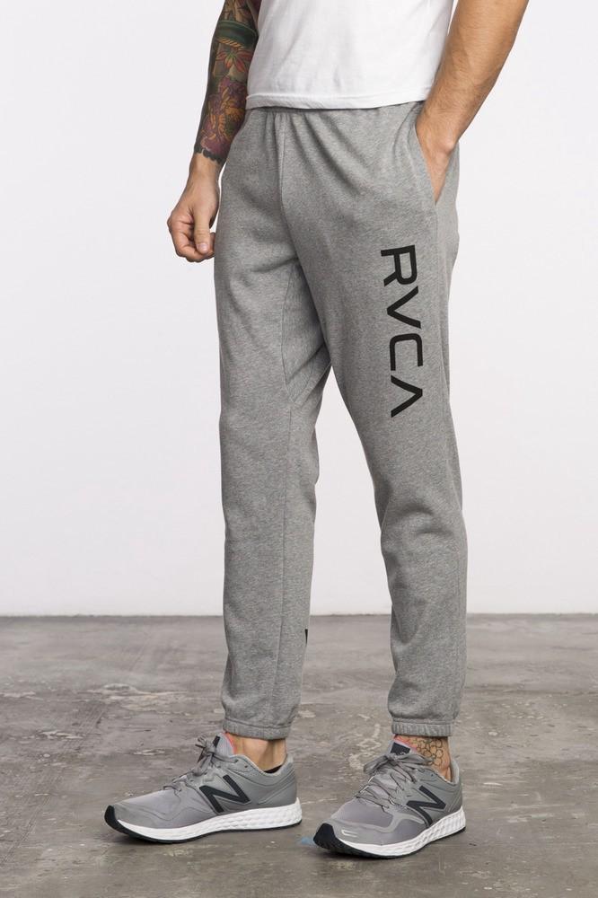 Rvca Big Logo Sweatpants In Athletic Heather