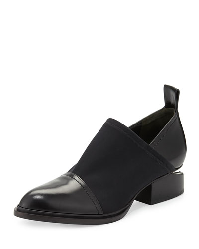 Alexander Wang 'Kori' Cutout Heel Neoprene And Leather Slip-On Oxfords In Black
