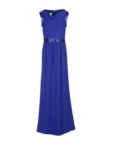 Armani Collezioni Long Dress In Bright Blue