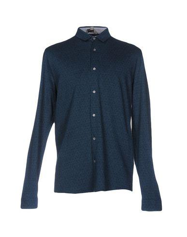 Canali Patterned Shirt In Deep Jade