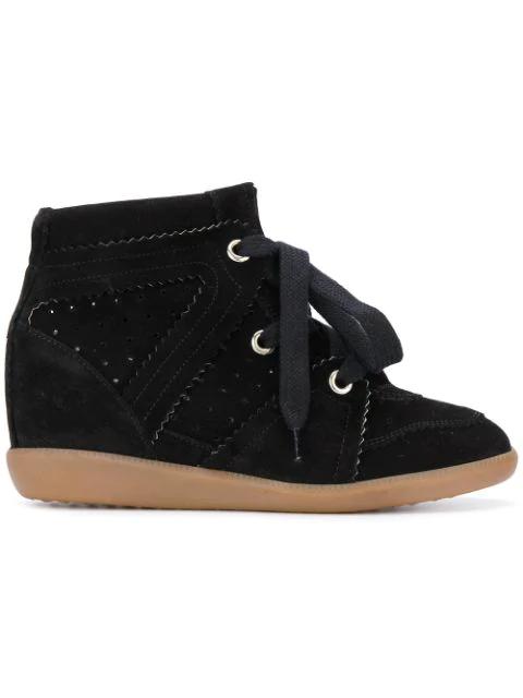 7a718fecb0 Isabel Marant Damenschuhe Damen Wildleder Schuhe High Sneakers Bobby In  Black