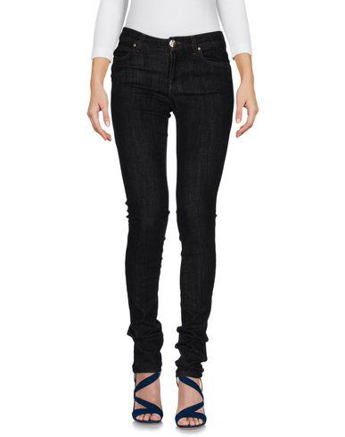 Versace Black Medusa Skinny Jeans In Blue