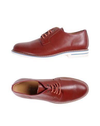 Armani Collezioni Laced Shoes In Brick Red