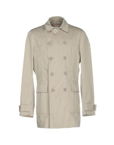 Peuterey Double Breasted Pea Coat In Light Grey